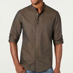 INC Men's Textured Band Collar Shirt